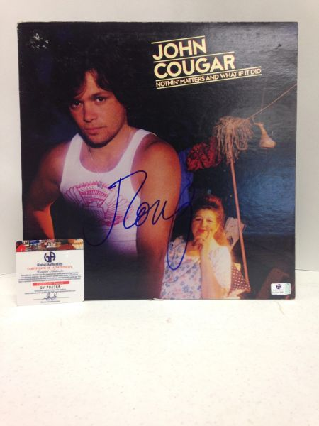 John Cougar **NOTHIN' MATTERS AND WHAT IF IT DID** Signed & Certified LP cover with vinyl record - GV704386