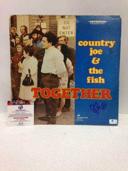 Country Joe & The Fish **TOGETHER** Signed & Certified LP cover with vinyl record - GV704389 - signed by: Country Joe