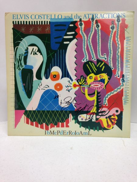 Elvis Costello and the Attractions **IbMePdErRoIoAmL** Signed & Certified LP cover with vinyl record - GV580360 - signed by: Elvis Costello