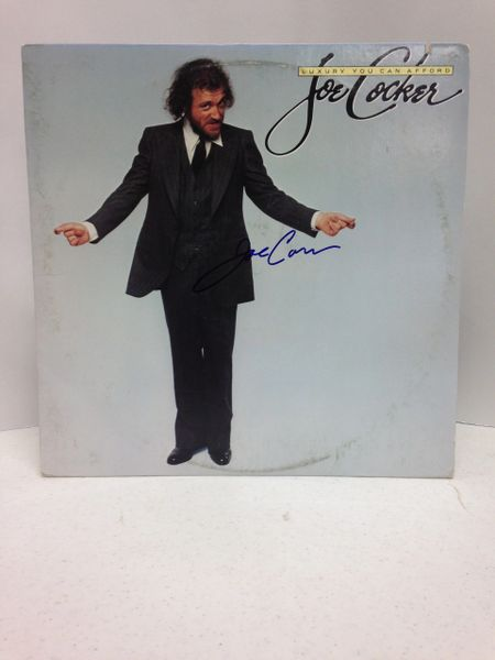 Joe Cocker **LUXURY YOU CAN AFFORD** Signed & Certified LP Cover with vinyl record - GV562543