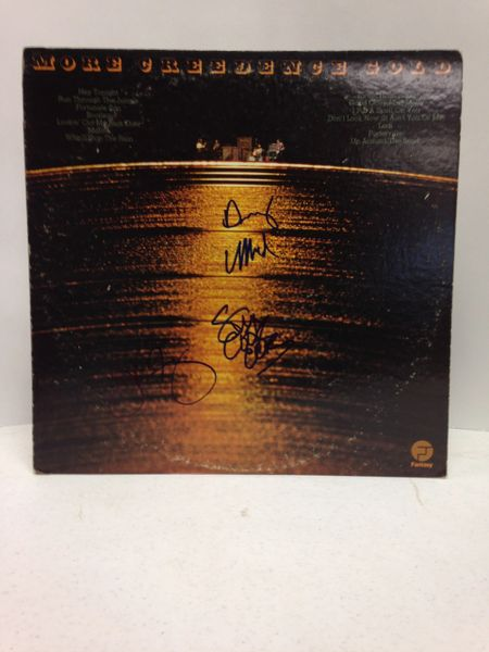 Creedence Clearwater Revival **MORE CREEDENCE GOLD** Signed & Certified LP Cover with vinyl record - GV591974 - signed by: John Fogerty, Stu Cook, Doug Clifford