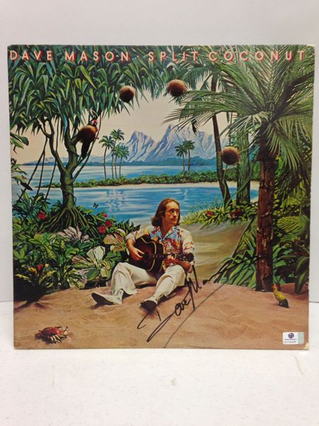 Dave Mason **SPLIT COCONUT** Signed & Certified LP Cover with vinyl record - GV704385