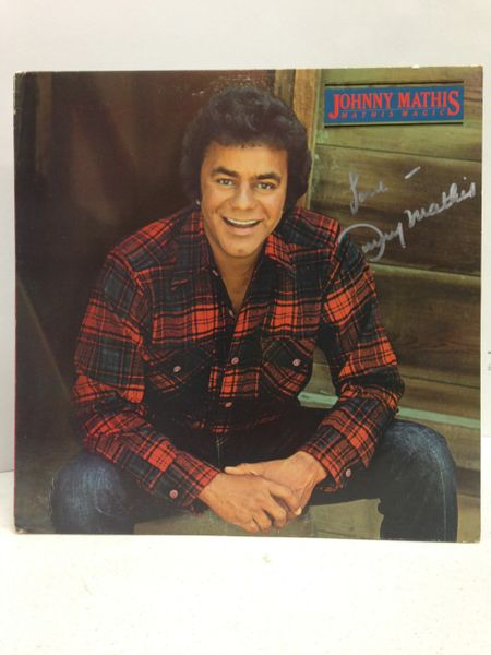 Johnny Mathis **MATHIS MAGIC** Signed & Certified LP Cover with vinyl record - GV529187