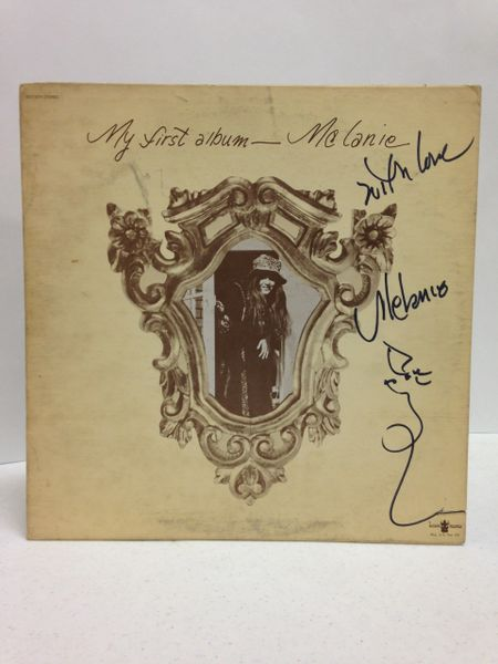 Melanie **MY FIRST ALBUM** Signed & Certified LP Cover with vinyl record - GV591135