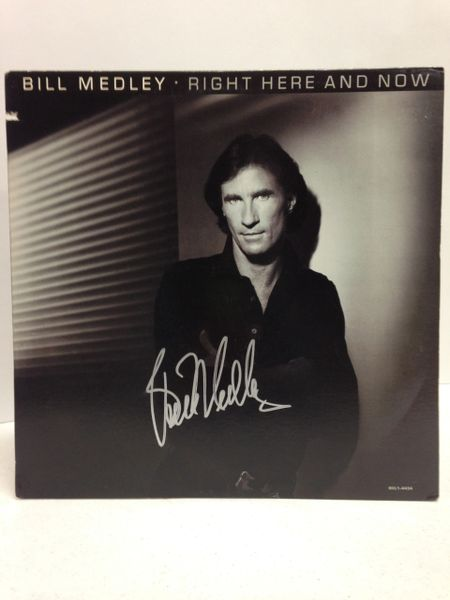 Bill Medley **RIGHT HERE AND NOW** Signed & Certified LP Cover with vinyl record - GV614100
