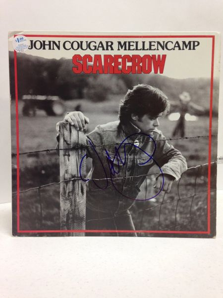 John Cougar Mellencamp **SCARECROW** Signed & Certified LP Cover with vinyl record - GV591186