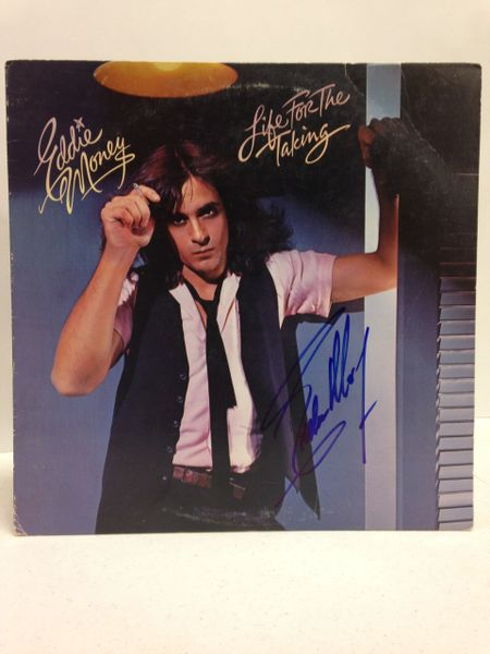 Eddie Money **LIFE FOR THE TAKING** Signed & Certified LP Cover with vinyl record - GV528446