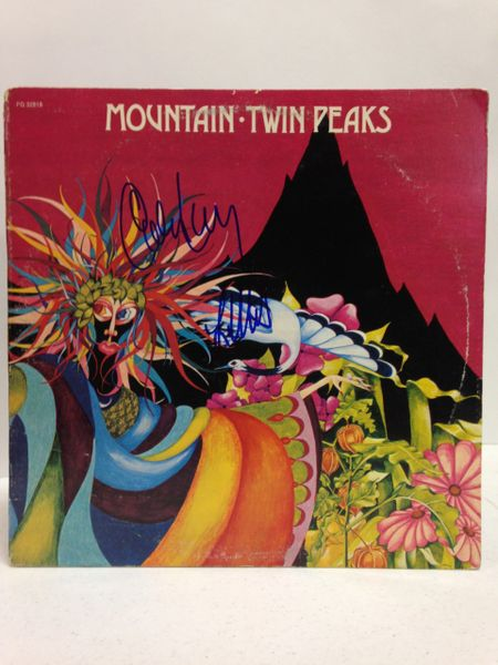 Mountain **TWIN PEAKS** Signed & Certified LP Cover with vinyl record - GV532669 - signed by: Leslie West, Corky Laing