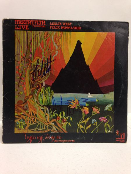 Mountain **MOUNTAIN LIVE** Signed & Certified LP Cover with vinyl record - GV591212 - signed by: Leslie West, Corky Laing