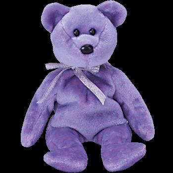 CLUBBY II BEAR Beanie Baby (Purple) - Ty