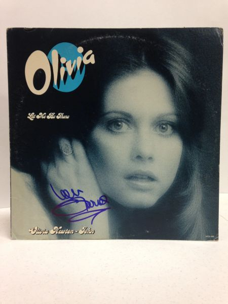 Olivia Newton-John **LET ME BE THERE** Signed & Certified LP COVER ONLY - no vinyl record - GV546208