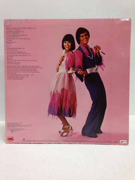 Donny & Marie Osmond **NEW SEASON** Signed & Certified LP Cover with vinyl record - GV586203