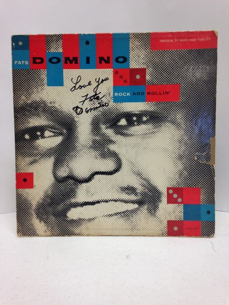 Fats Domino **ROCK AND ROLLIN'** Signed & Certified LP cover with vinyl record - GV532671