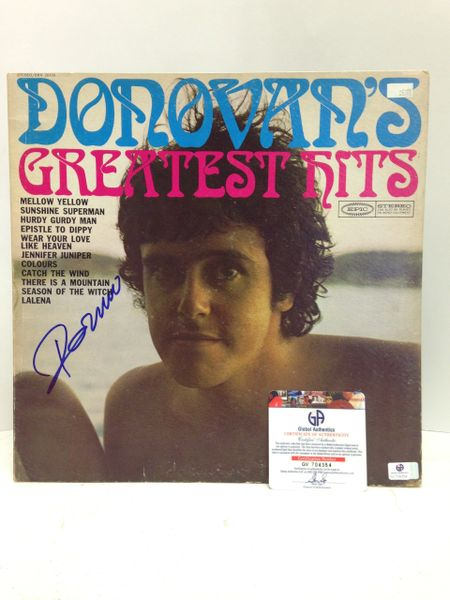 Donovan **DONOVAN'S GREATEST HITS** Signed & Certified LP COVER ONLY - no vinyl record - GV704354