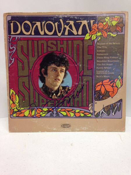 Donovan **SUNSHINE SUPERMAN** Signed & Certified LP COVER ONLY - no vinyl record - GV528420