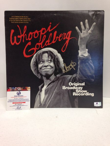 Whoopi Goldberg **ORIGINAL BROADWAY SHOW RECORDING** Signed & Certified LP Cover with vinyl record - GV704327