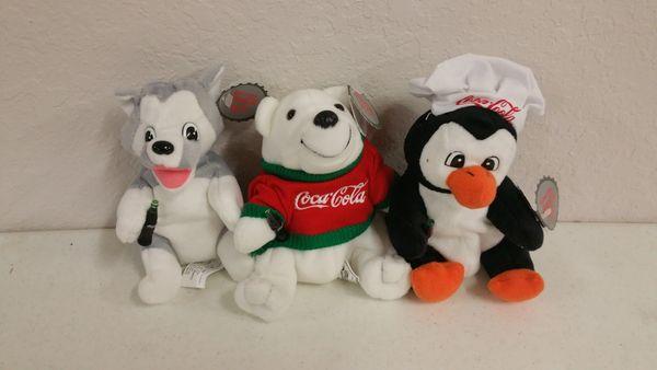 COCA-COLA SET #1 (3 pc. set) Mini Beanie Plushie