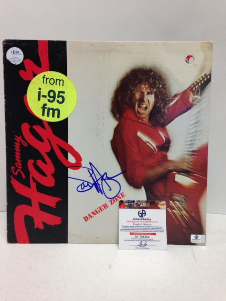 Sammy Hagar **DANGER ZONE** Signed & Certified LP Cover with vinyl record - GV704392