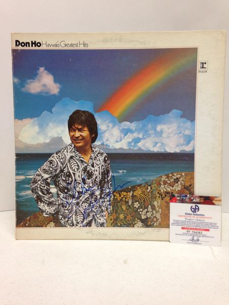 Don Ho **HAWAII'S GREATEST HITS** Signed & Certified LP Cover with vinyl record - GV704362
