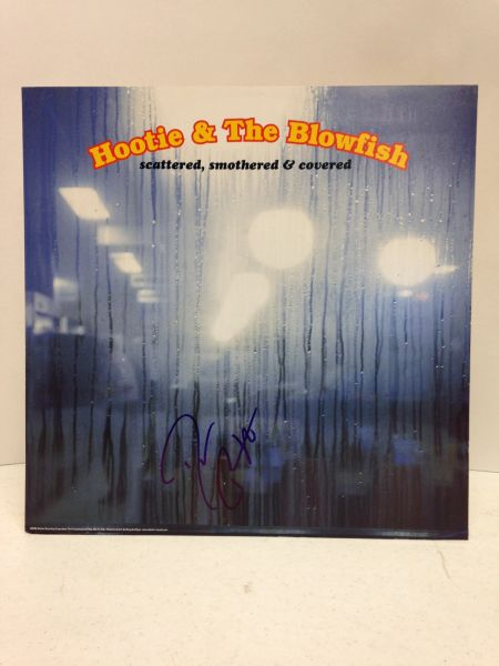 Hootie & The Blowfish **SCATTERED, SMOTHERED & COVERED** Signed & Certified PROTOTYPE of LP COVER ONLY - no vinyl record - GV513712 - signed by Darius Rucker