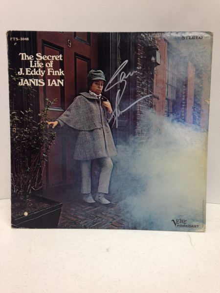 Janis Ian **THE SECRET LIFE OF J. EDDY FINK** Signed & Certified LP Cover with vinyl record - GV528445