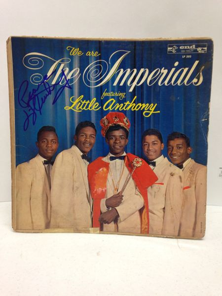 The Imperials **WE ARE THE IMPERIALS, FEATURING LITTLE ANTHONY** Signed & Certified LP Cover with vinyl record - GV586092 - signed by: Little Anthony Gourdine