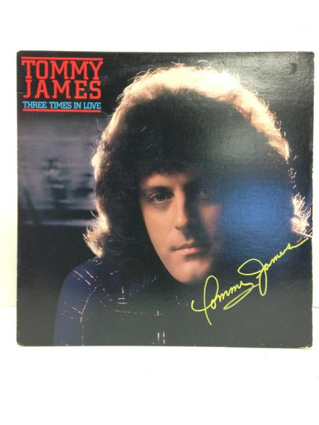 Tommy James **THREE TIMES IN LOVE** Signed & Certified LP Cover with vinyl record - GV586195