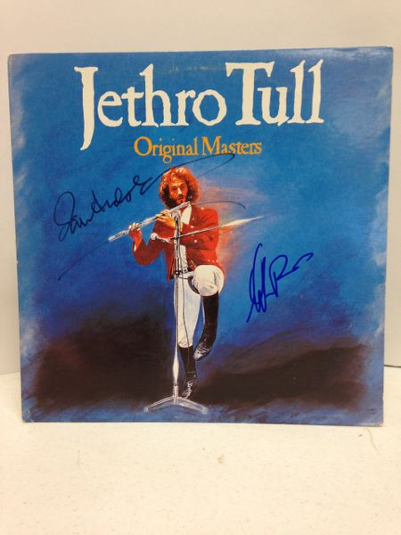 Jethro Tull **ORIGINAL MASTERS** Signed & Certified LP Cover with vinyl record - GV580342 - signed by: Ian Anderson, Martin Barre