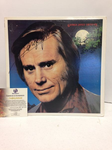 George Jones **SHINE ON** Signed & Certified LP Cover with vinyl record - GV591233