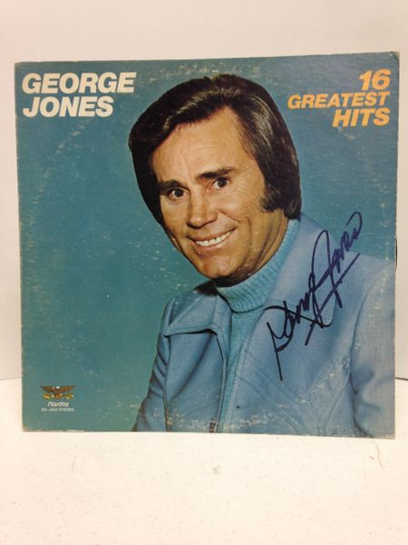 George Jones **16 GREATEST HITS** Signed & Certified LP Cover with vinyl record - GV591101