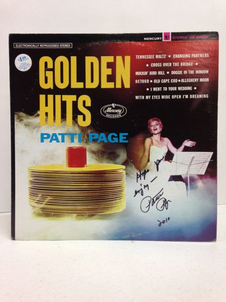 Patti Page **GOLDEN HITS** Signed & Certified LP cover with vinyl record - GV586143