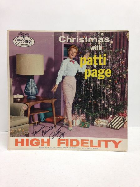 Patti Page **CHRISTMAS WITH PATTI PAGE** Signed & Certified LP cover with vinyl record - GV586135