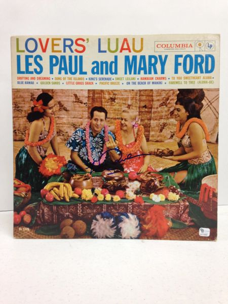 Les Paul and Mary Ford **LOVERS' LUAU** Signed & Certified LP Cover with vinyl record - GV510087 - signed by: Les Paul