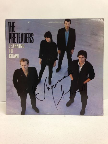 The Pretenders **LEARNING TO CRAWL** Signed & Certified LP Cover with vinyl record - GV586191 - signed by: Chrissie Hynde