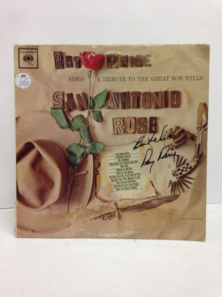 Ray Price **SAN ANTONIO ROSE** Signed & Certified LP Cover with vinyl record - GV519217