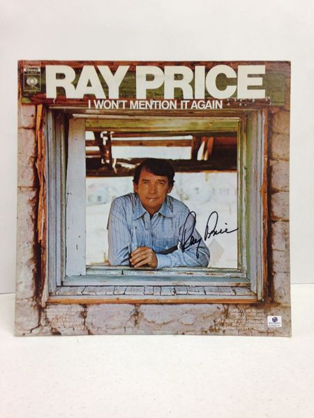 Ray Price **I WON'T MENTION IT AGAIN** Signed & Certified LP Cover with vinyl record - GV586215