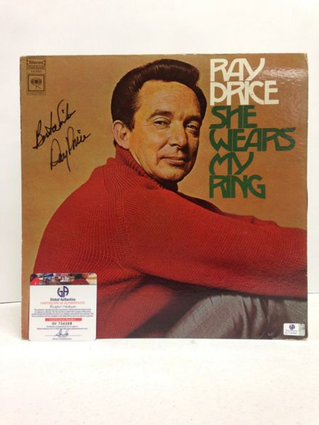 Ray Price **SHE WEARS MY RING** Signed & Certified LP Cover with vinyl record - GV704398