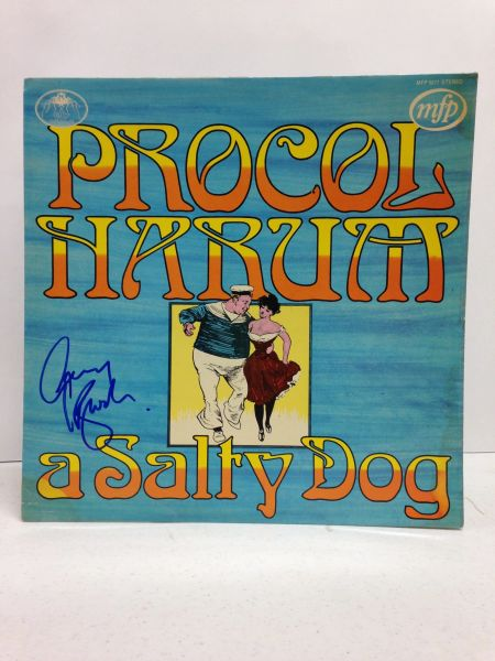 Procol Harum **A SALTY DOG** Signed & Certified LP cover with vinyl record - GV591115 - signed by: Gary Brooker