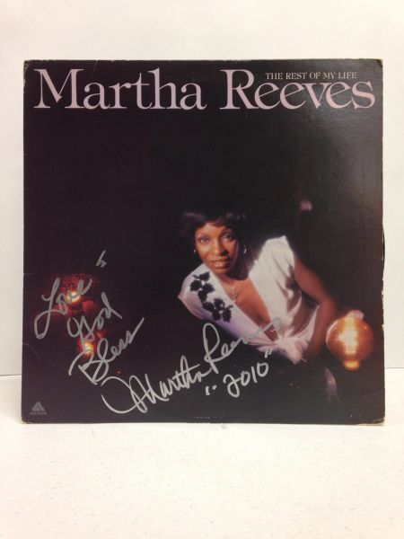 Martha Reeves **THE REST OF MY LIFE** Signed & Certified LP Cover with vinyl record - GV580333