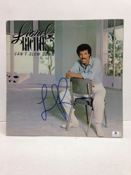 Lionel Richie **CAN'T SLOW DOWN** Signed & Certified LP COVER ONLY - no vinyl record - GV704396
