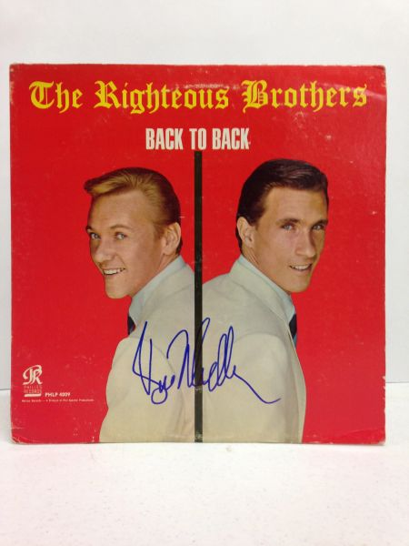 The Righteous Brothers **BACK TO BACK** Signed & Certified LP Cover with vinyl record - GV618679 - signed by: Bill Medley