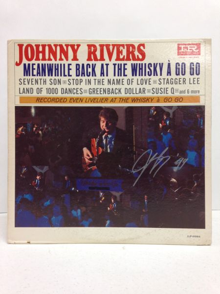 Johnny Rivers **MEANWHILE BACK AT THE WHISKY A GO GO** Signed & Certified LP Cover with vinyl record - GV591438