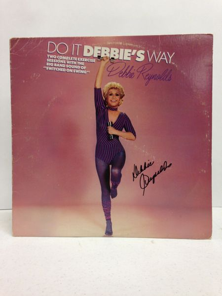 "Debbie Reynolds **DO IT DEBBIE'S WAY, Two Complete Exercise Sessions with the Big Band Sound ""SWITCHED ON SWING""** Signed & Certified LP Cover with vinyl record - GV586142"