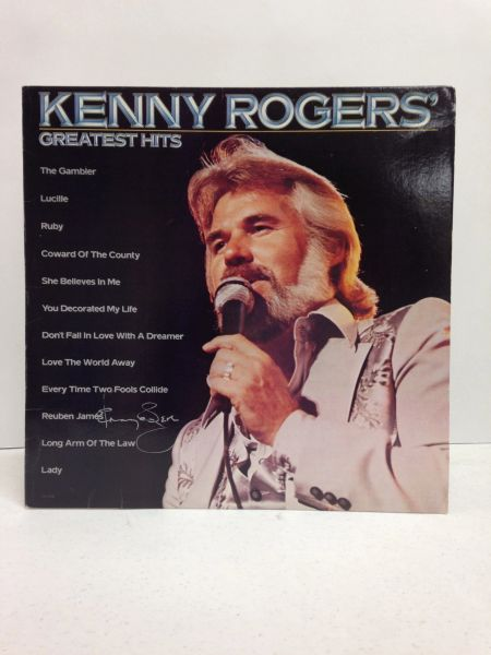 Kenny Rogers **KENNY ROGERS' GREATEST HITS** Signed & Certified LP cover with vinyl record - GV528920
