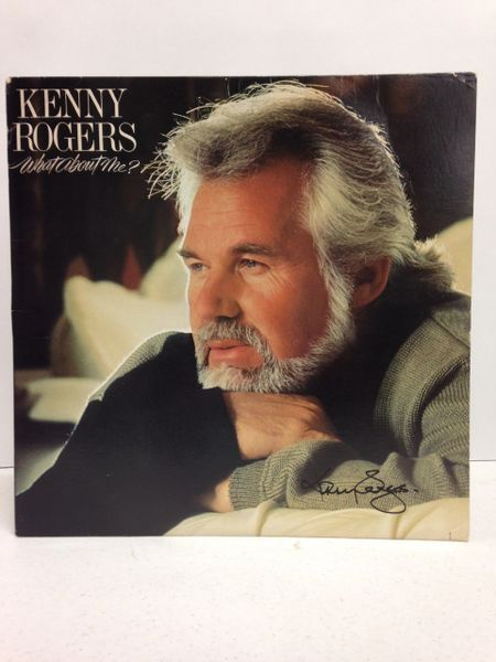 Kenny Rogers **WHAT ABOUT ME?** Signed & Certified LP cover with vinyl record - GV562828