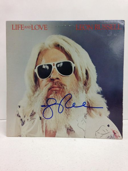 Leon Russell **LIFE AND LOVE** Signed & Certified LP Cover with vinyl record - GV580285