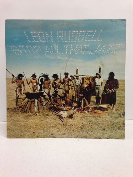 Leon Russell **STOP ALL THAT JAZZ** Signed & Certified LP Cover with vinyl record - GV591202