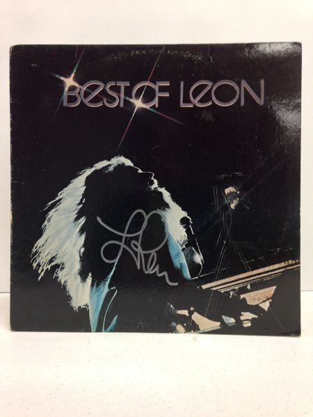 Leon Russell **BEST OF LEON** Signed & Certified LP Cover with vinyl record - GV591203