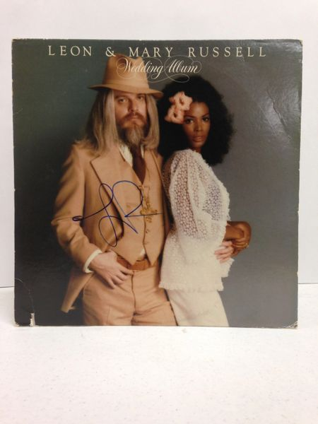 Leon & Mary Russell **WEDDING ALBUM** Signed & Certified LP Cover with vinyl record - GV586079 - signed by Leon Russell