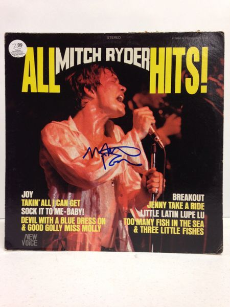 Mitch Ryder **ALL MITCH RYDER HITS** Signed & Certified LP Cover with vinyl record - GV562804